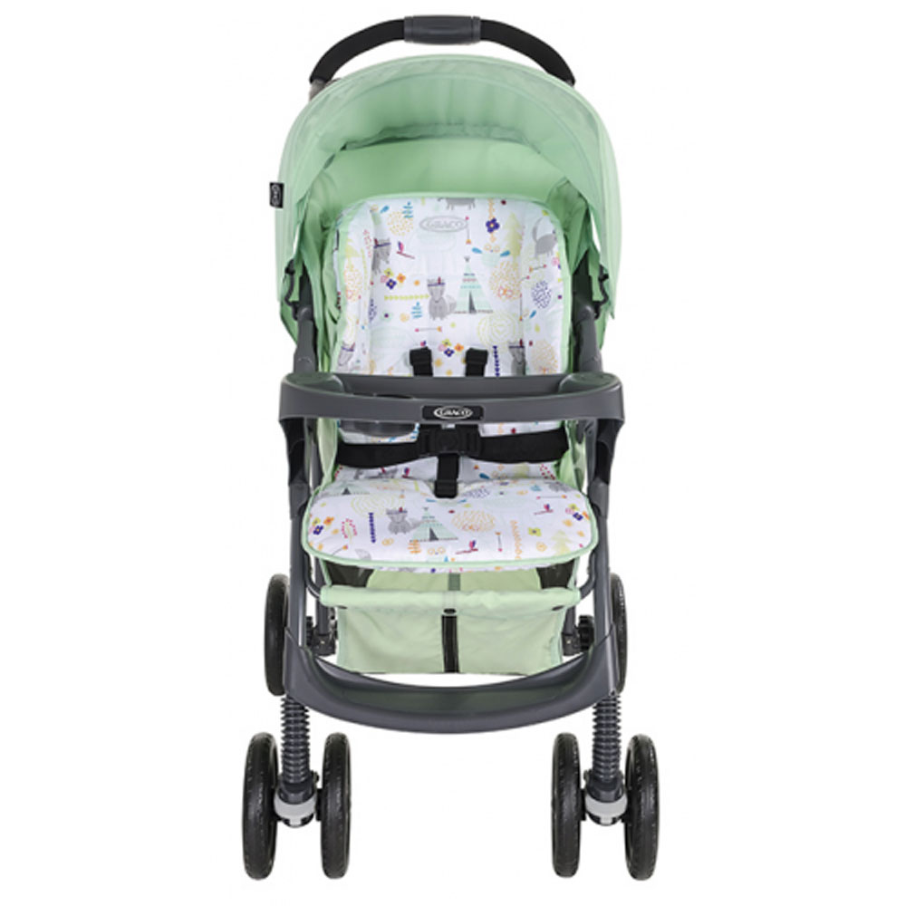 کالسکه گراکو میراژ سبز کمرنگ  Graco Mirage Plus With stroller